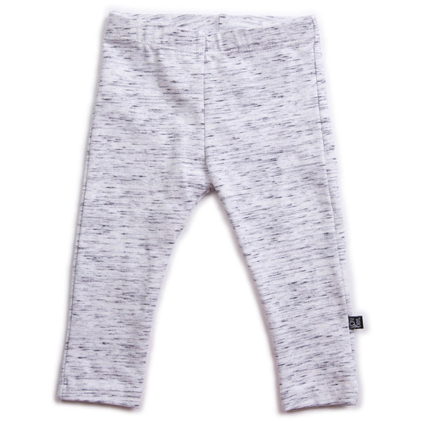 VONBON GRAY KIDS ORGANIC COTTON LEGGINGS