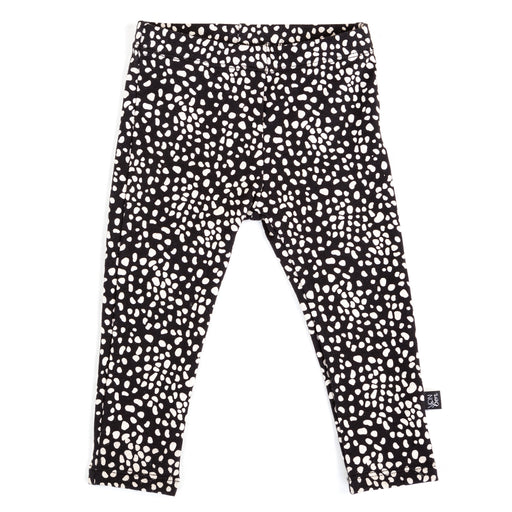 VONBON BASIC LEGGING SPECKLED BLACK WHITE BAMBOO ORGANIC COTTON PRINT CANADA