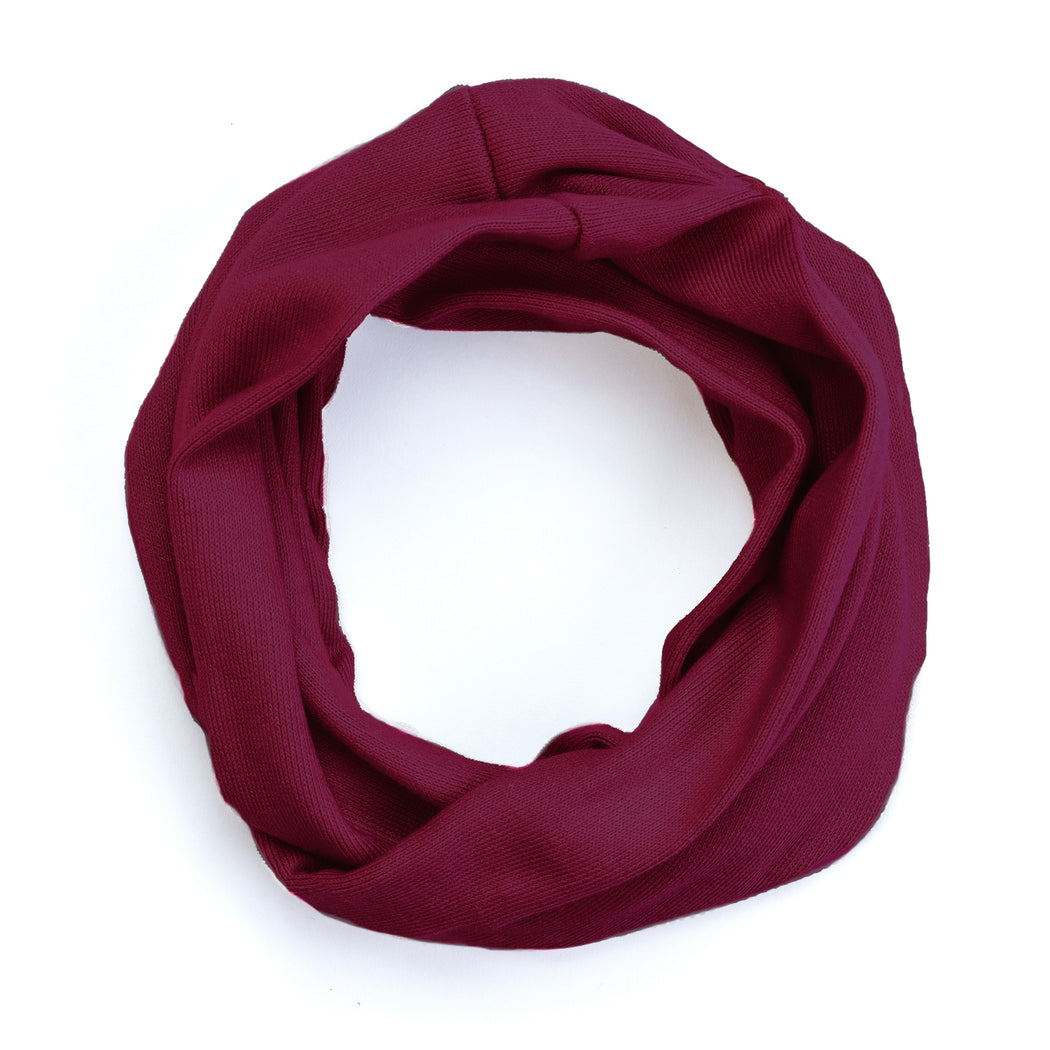 FLEECE INFINITY COWL | BURGUNDY