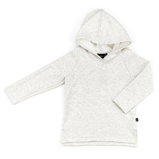 VONBON LONG SLEEVE HOODED PULLOVER FLEECE HEATHER ASH