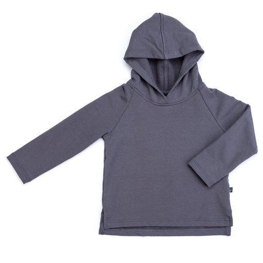 VONBON FLEECE HOODIE PULLOVER HOODED BAMBOO ORGANIC COTTON COZY STONE GRAY