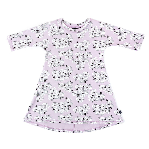 VONBON GIRLS 3/4 SLEEVE DRESS WINTER FLORAL FLOWER BAMBOO ORGANIC COTTON