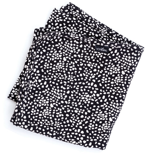 VONBON BABY BLANKET SWADDLE BAMBOO ORGANIC COTTON SPECKLED BLACK