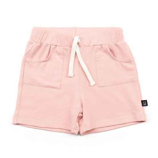 VONBON JERSEY DRAWSTRING SUMMER SHORTS GIRLS ROSY PINK