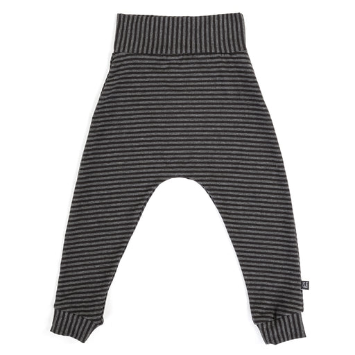 VONBON HAREM LEGGING JERSEY ORGANIC COTTON CHARCOAL STRIPE BOYS GIRLS BOTTOMS CANADA