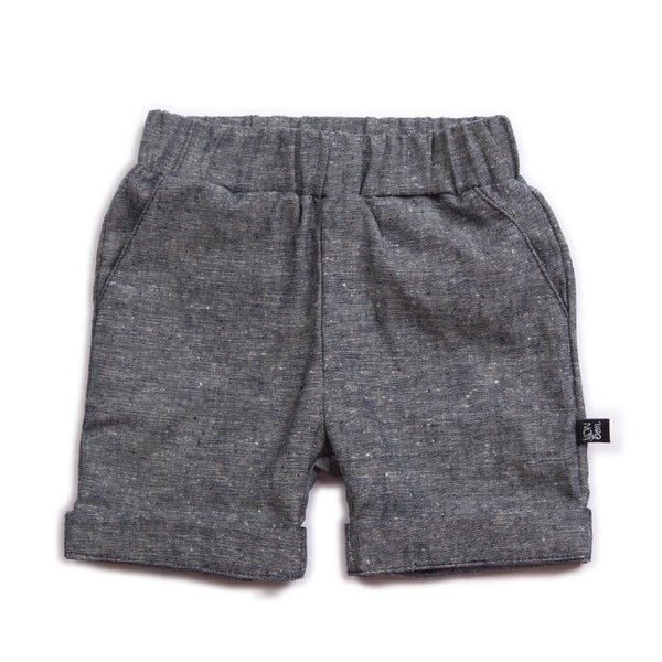 VONBON CHAMBRAY DENIM SHORT SUMMER HEMP ORGANIC COTTON