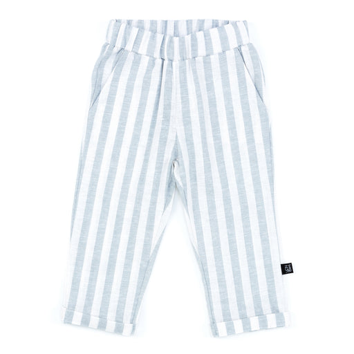 ROLLED CUFF TROUSER | BLUE CHAMBRAY STRIPE
