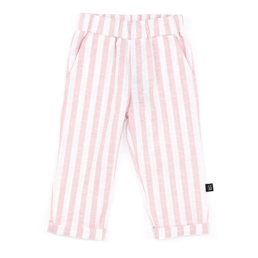 ROLLED CUFF TROUSER | PINK CHAMBRAY STRIPE