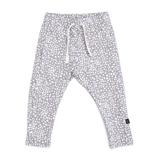 VONBON SKINNY SWEATS JERSEY BAMBOO ORGANIC COTTON SPECKLED FAWN PRINT PANT
