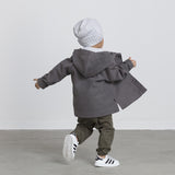 LITTLE BOYS ORGANIC HOODED JACKET KID TRENDY