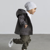 100% ORGANIC COTTON HOODED JACKET BOY BABY