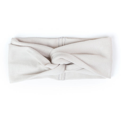 VONBON WRAP HEADBAND KNIT MODAL RAYON SWEATER FABRIC OYSTER CREAM WHITE