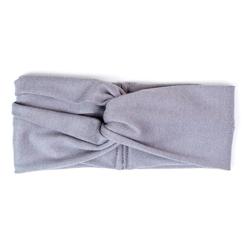 VONBON WRAP HEADBAND KNIT MODAL RAYON SWEATER FABRIC STONE GRAY LIGHT GREY