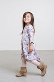 VONBON BAMBOO FLORAL LITTLE GIRLS DRESS