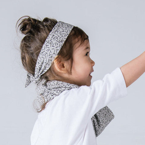 VONBON BAMBOO KIDS HEADBAND GRAY