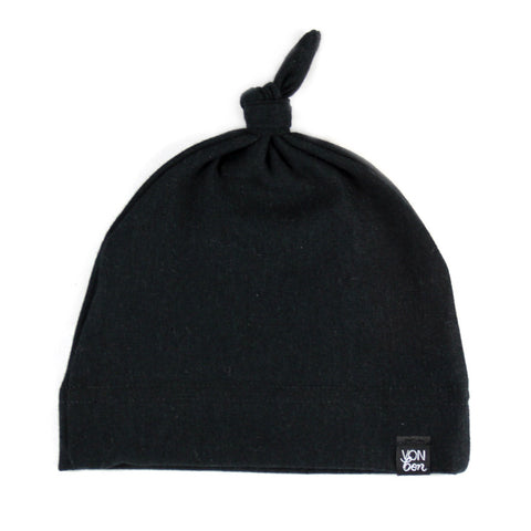 KNOTTED BABY HAT | BLACK