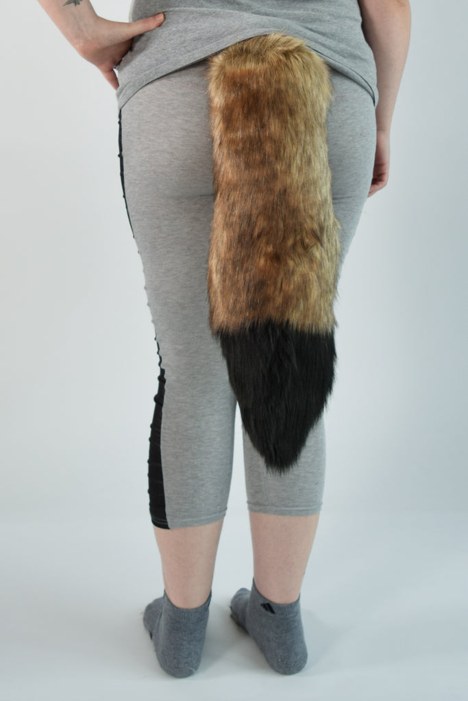 Coyote Furry Ear & Tail Set - Black Tip