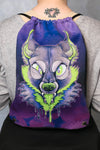 Slime Wolf Drawstring Bag