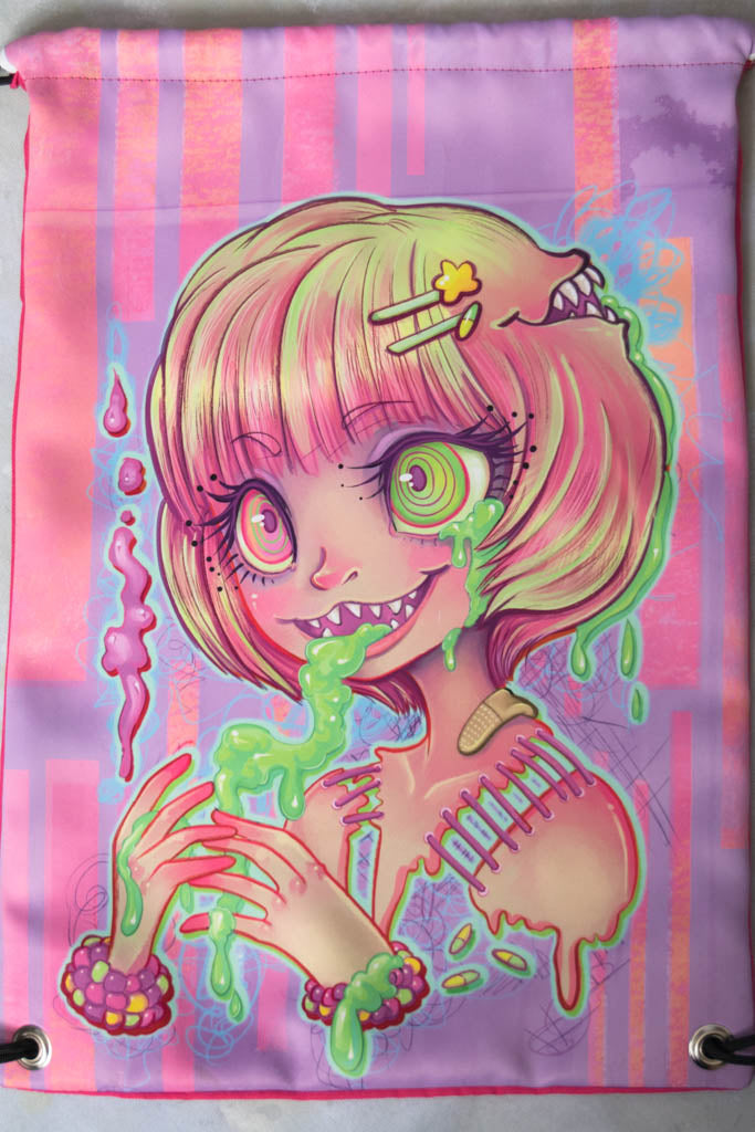 Slime Girl Drawstring Bag