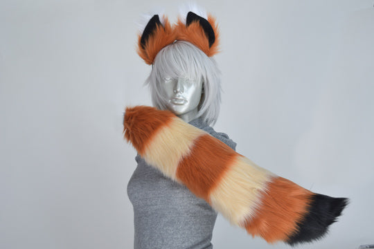 Luxury Red Panda Furry Ear & Tail Set