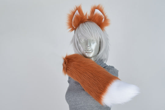 Rust Fox Furry Ear & Tail Set - Small