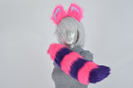 Luxury Cheshire Cat Furry Ear & Tail Set - Small