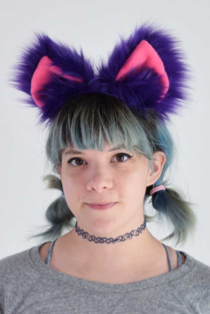 Luxury Skinny Cheshire Cat Furry Ear & Tail Set