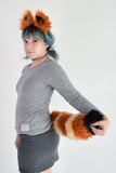 Red Panda Furry Ear & Tail Set - Small
