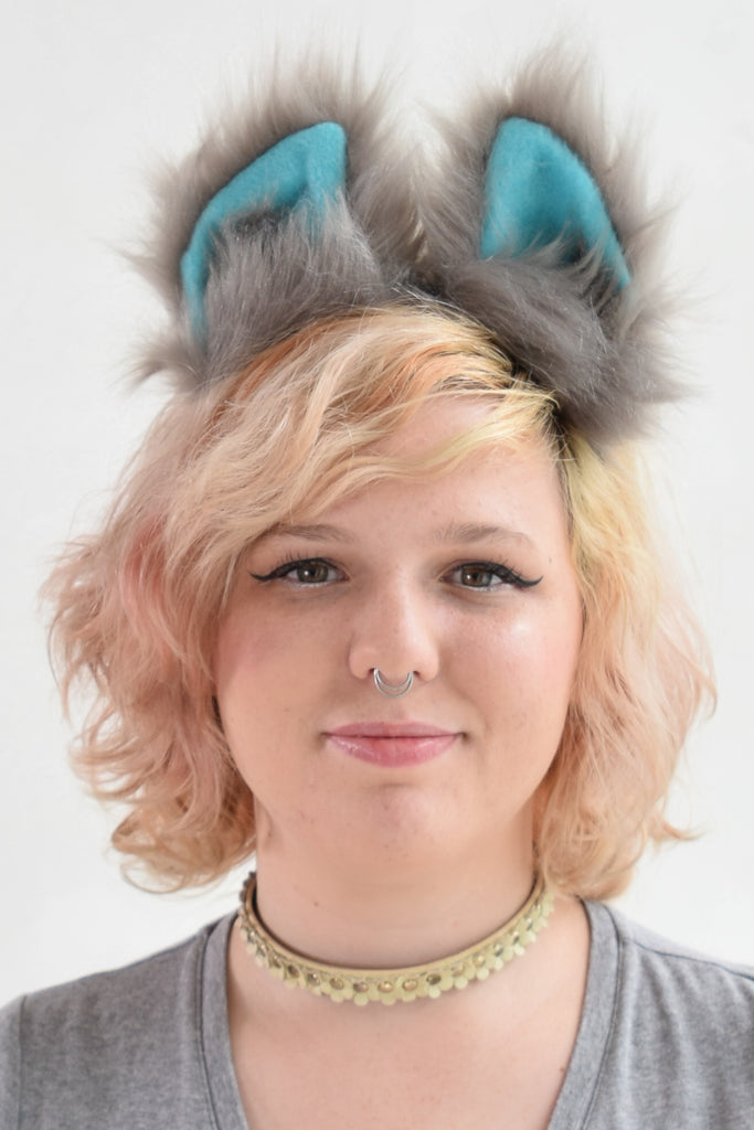 Luxury Movie Cheshire Cat Furry Ear & Tail Set - Small