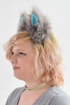 Small Luxury Movie Cheshire Cat Furry Ear & Tail Set