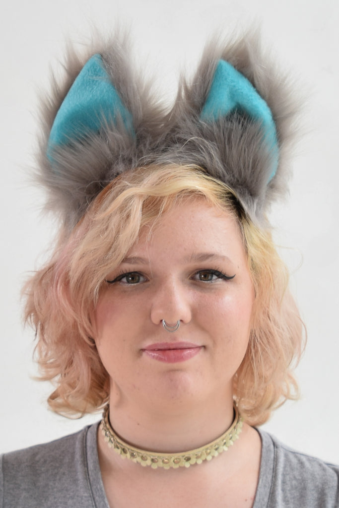 Luxury Movie Cheshire Cat Furry Ear & Tail Set