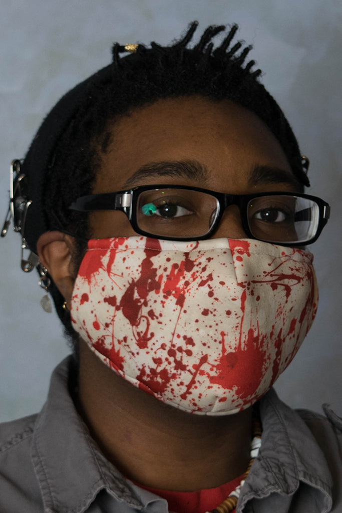 Blood Splatter Face Mask