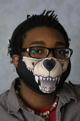 Canine Skeleton Face Mask