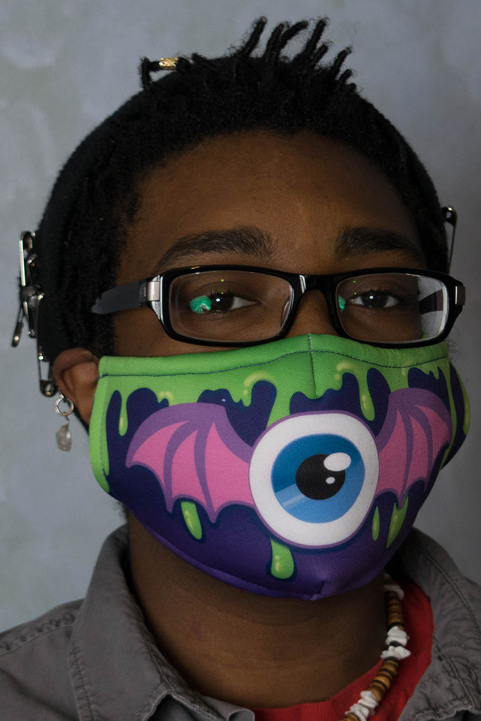 Eyeball Bat Face Mask