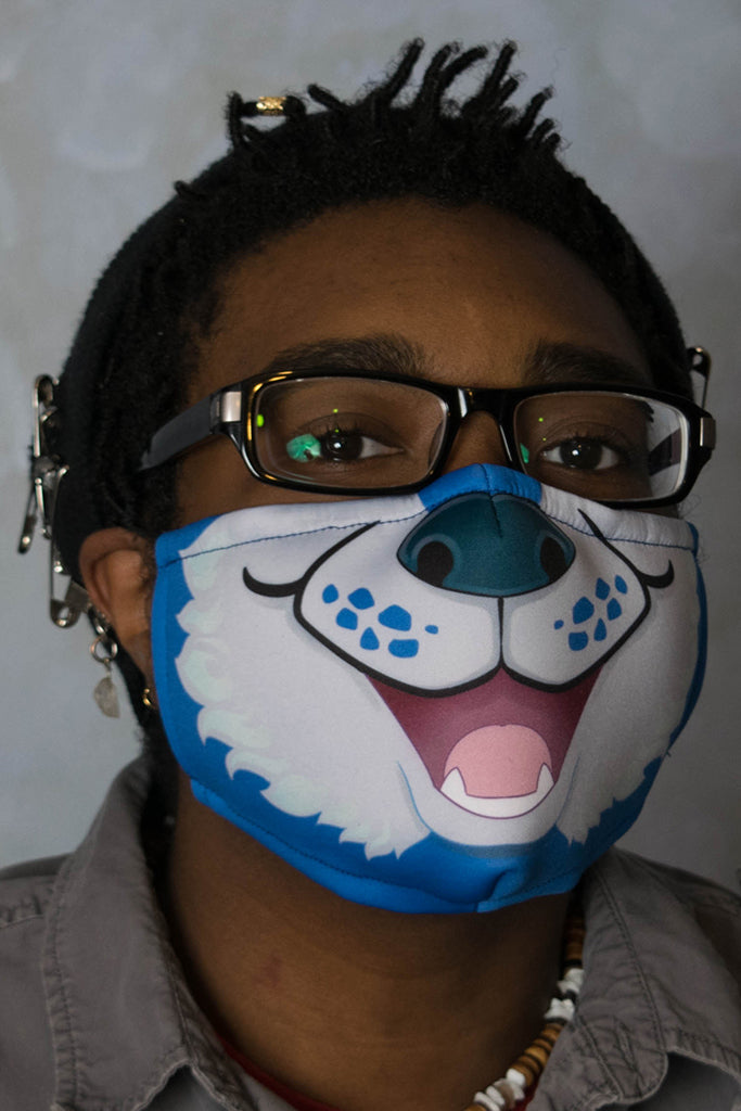 Blue Husky Face Mask