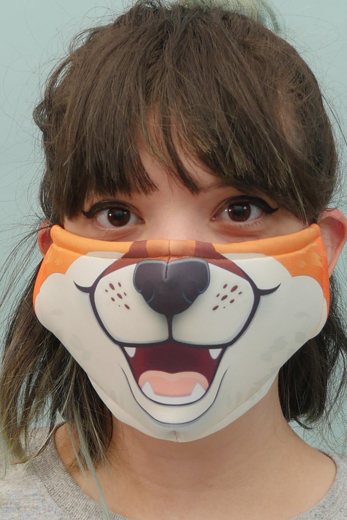 Orange Fox Face Mask