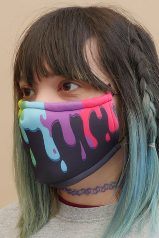 Rainbow Slime Face Mask Black