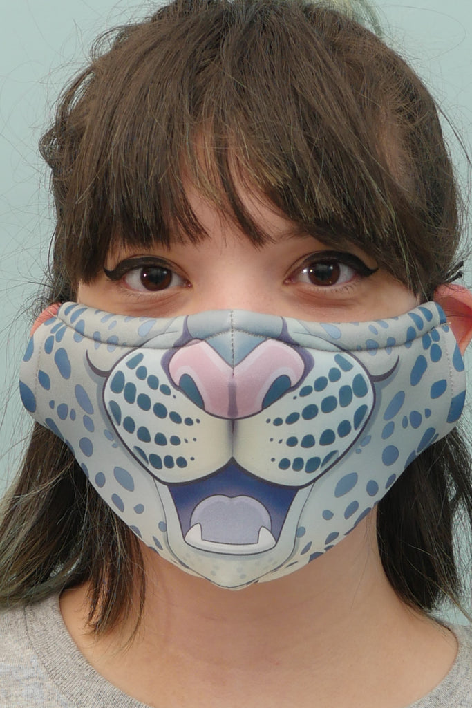 Snow Leopard Face Mask