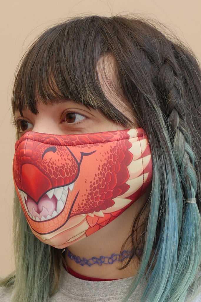Red Dragon Face Mask