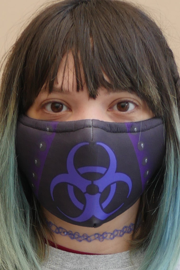Bio-hazard Face Mask Purple