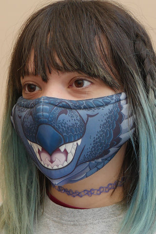Black Dragon Face Mask