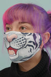 White Tiger Face Mask