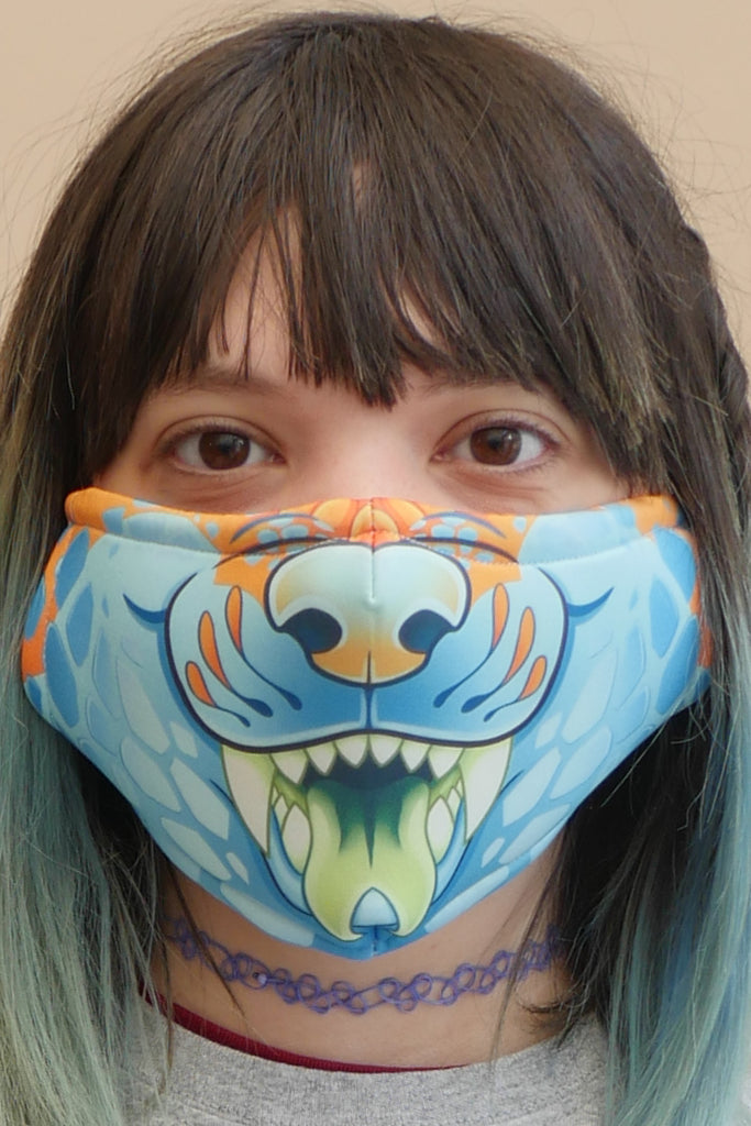 Snake Dog Face Mask