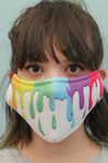 Rainbow Slime Face Mask White