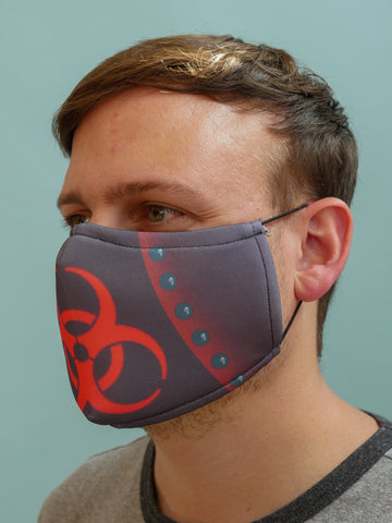 Bio-hazard Face Mask Red