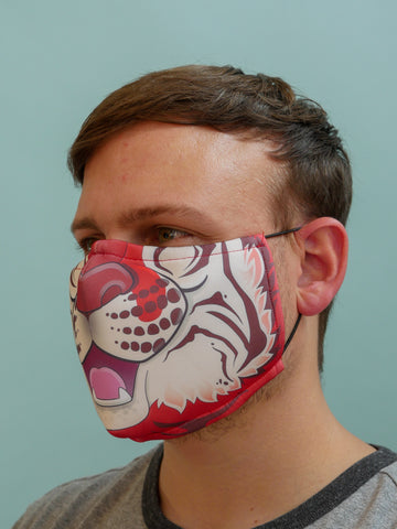 Red Tiger Face Mask