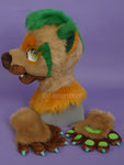 Emery Gold Raccoon-Bear Partial Fursuit