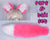 Luxury Fluorescent Pink Furry Ear & Tail Set - White Tip