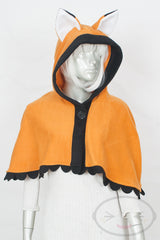 Orange Fox Capelet - Hood and Tail