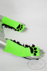 Fluorescent Lime Frilled Glovelets